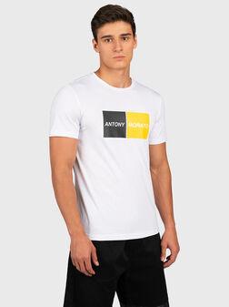 Black T-shirt with logo print - 1
