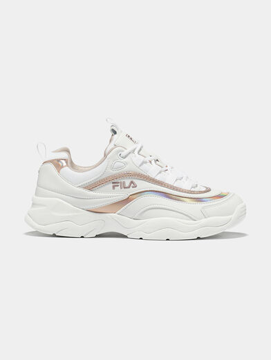 RAY M White sneakers with rose gold accents - 1