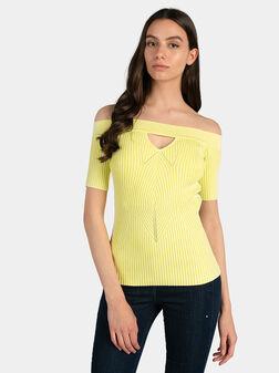 Блуза ALINA в жълт цвят - 1