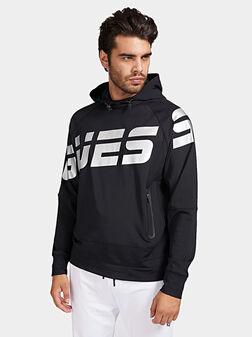 Hooded sweatshirt with maxi logo - 1