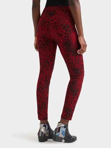 Animal print slim trousers - 2