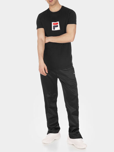 Black EVAN T-shirt with logo accent - 2