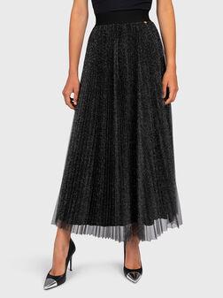 Skirt with lurex threads - 1