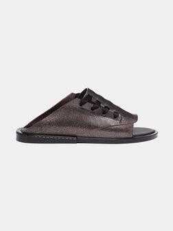 Бляскави чехли с връзки ULITSA - 1