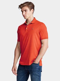 Cotton polo-shirt with logo - 1