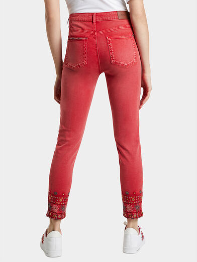DELFOS Pant with ethno embroidery - 2