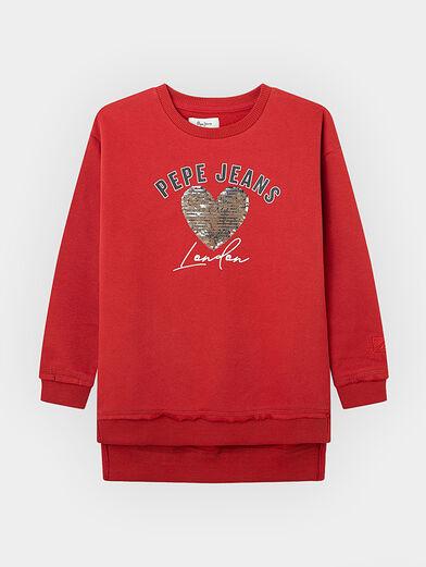 DANIELLE sequin sweatshirt - 1