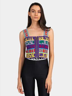 Multicolor top with zip - 1