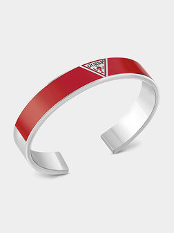 Bangle with red enamel panel and logo - 1