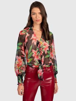 Риза с флорален принт CHARISSE - 1