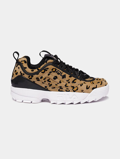 DISRUPTOR Suede sneakers with leopard print - 1