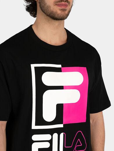 Cotton T-shirt in black - 2