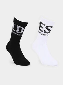 Сет от два чифта чорапи с лого - 1