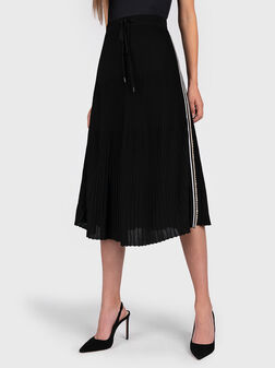 Midi knitted skirt in black - 1