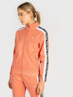 Sweatshirt with branded stripes - 1