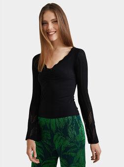 Long bell sleeve t-shirt - 1