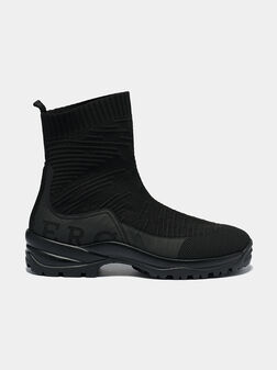 Slip-on boots with logo accent on the heel - 1