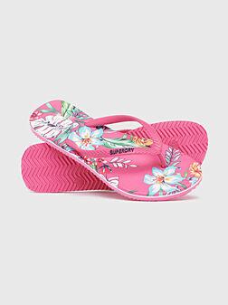 Плажни чехли с флорален принт - 1