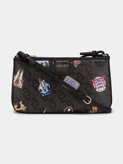 Малка кросбоди чанта с принт - 1