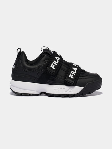 DISRUPTOR STRAPS Black sneakers with contrasting logo print  - 1