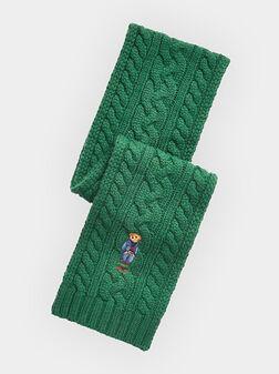 Плетен шал с Polo Bear бродерия - 1