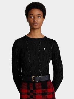 Памучен пуловер  - 1