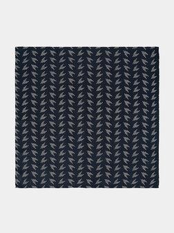 Копринена кърпичка с принт - 1