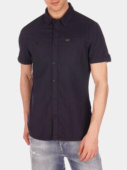 Риза DOBBY с лого детайл - 1