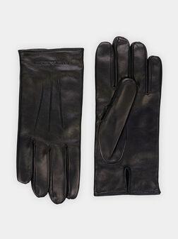 Черни кожени ръкавици  - 1