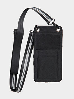 Phone pouch in black color - 1