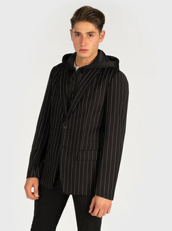 Blazer with removable vest with hood - 1
