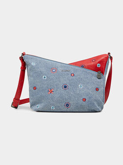 Кросбоди чанта с контрастни детайли - 1