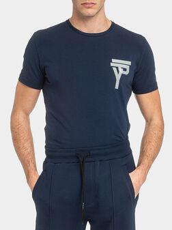 Синя тениска с щампи - 1