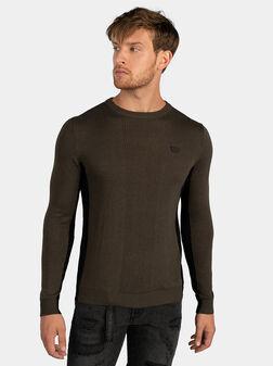 Пуловер в два цвята - 1