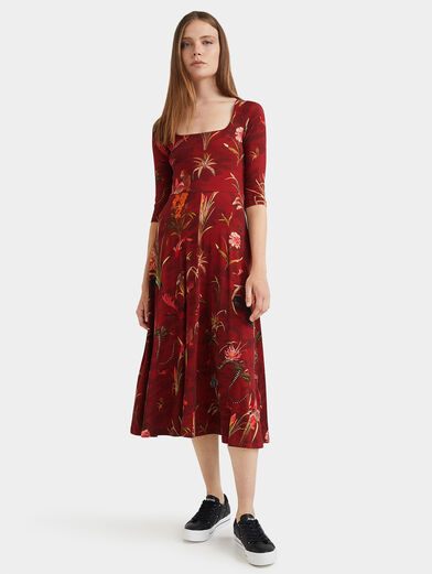 FLOWERS Dress with floral motifs - 1