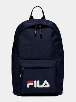 Раница в син цвят с лого  - 1