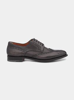 Дерби обувки в сив цвят - 1