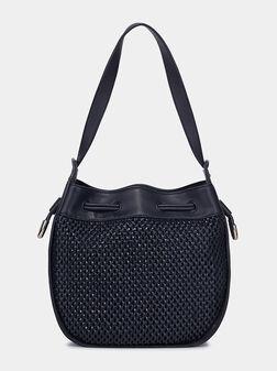 Чанта в тъмно син цвят - 1