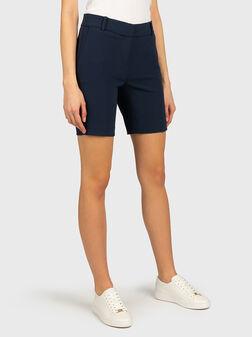 Bermuda shorts in blue color - 1