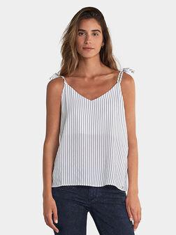 White striped top - 1