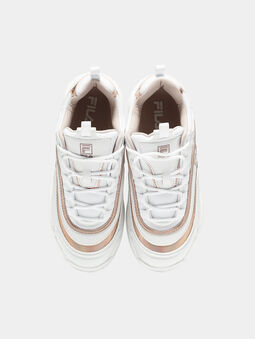 RAY M White sneakers with rose gold accents - 5