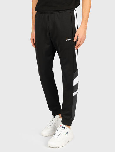 NERITAN Pants with contrasting inserts - 1