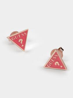 DREAM & LOVE earrings in pink color - 1