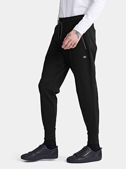 COLLECTIVE Cotton joggers in black - 1