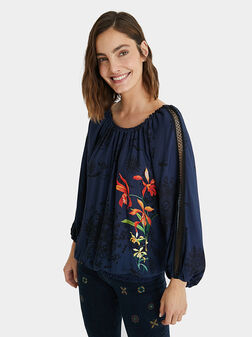CARLA Blouse with floral motifs - 1