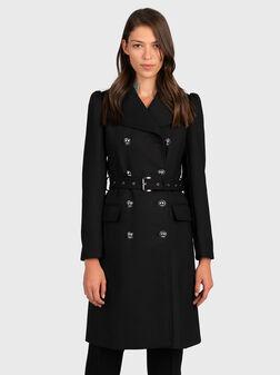 Black coat with belt - 1
