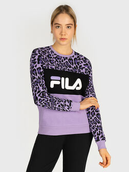 LEAH Cotton sweatshirt with animal print - 1