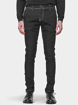 Слим дънки MASON в черен цвят - 1