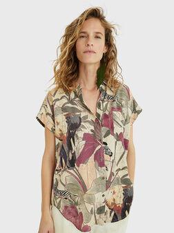Риза ETNICAN с тропически принт - 1