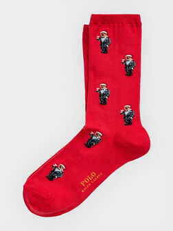 Чорапи с Polo Bear принт - 1